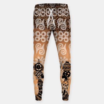 Thumbnail image of Black women Cotton sweatpants, Live Heroes