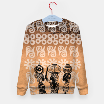 Thumbnail image of Black women Kid's sweater, Live Heroes