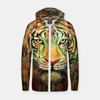 Thumbnail image of Tiger Cotton zip up hoodie, Live Heroes
