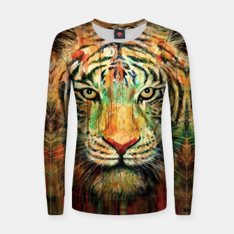 Thumbnail image of Tiger Woman cotton sweater, Live Heroes