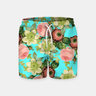 Thumbnail image of Hawaiian Flora Swim Shorts, Live Heroes