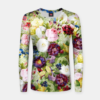 Thumbnail image of Garden of Eden Woman cotton sweater, Live Heroes