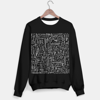 Thumbnail image of Horns B&W Sweater regular, Live Heroes