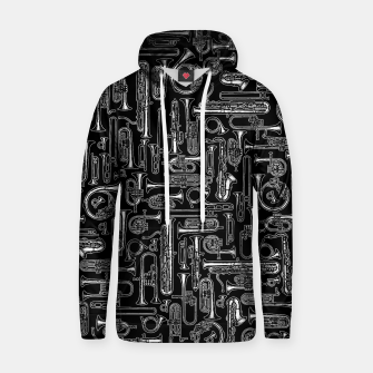Thumbnail image of Horns B&W Cotton hoodie, Live Heroes