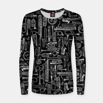 Thumbnail image of Horns B&W Woman cotton sweater, Live Heroes