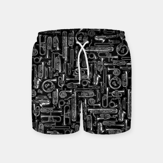 Thumbnail image of Horns B&W Swim Shorts, Live Heroes