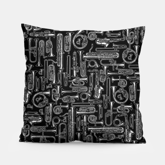 Thumbnail image of Horns B&W Pillow, Live Heroes