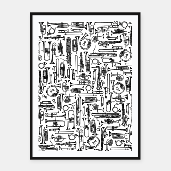 Thumbnail image of Horns B&W II Framed poster, Live Heroes