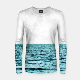 Thumbnail image of Ocean + Marble II Woman cotton sweater, Live Heroes