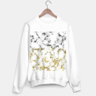 Thumbnail image of Black and white marble gold sparkle flakes Sweater regular, Live Heroes