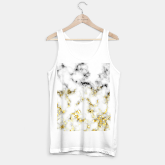 Thumbnail image of Black and white marble gold sparkle flakes Tank Top regular, Live Heroes
