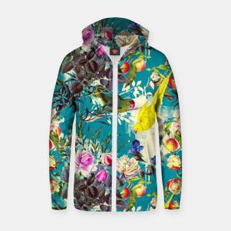 Miniature de image de Tropical birds in the nature 010 Sudadera con capucha y cremallera de algodón , Live Heroes