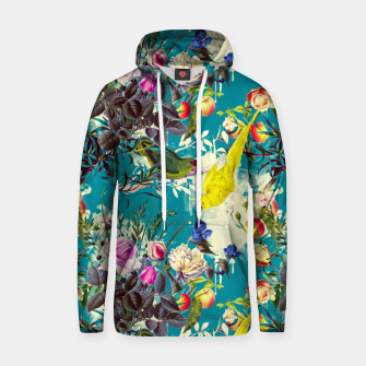 Tropical birds in the nature 010 Sudadera con capucha de algodón miniature