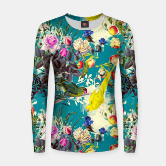 Tropical birds in the nature 010 Sudadera de algodón para mujer miniature