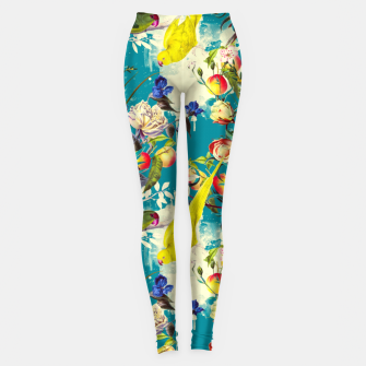 Miniatur Tropical birds in the nature 010 Leggings, Live Heroes