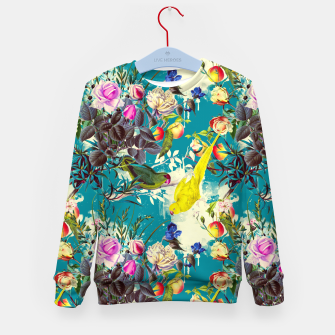 Tropical birds in the nature 010 Sudadera para niños miniature