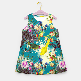 Tropical birds in the nature 010 Vestido de verano para niñas miniature