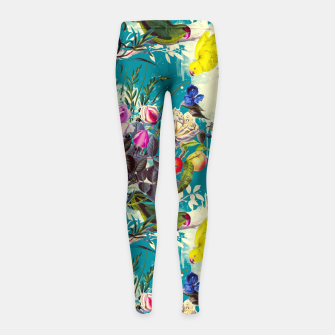 Tropical birds in the nature 010 Leggings para niña miniature