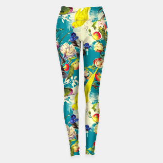 Tropical birds in the nature 010 Leggings miniature