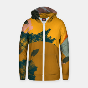 Thumbnail image of Earthy - Abstract Pattern Cotton zip up hoodie, Live Heroes