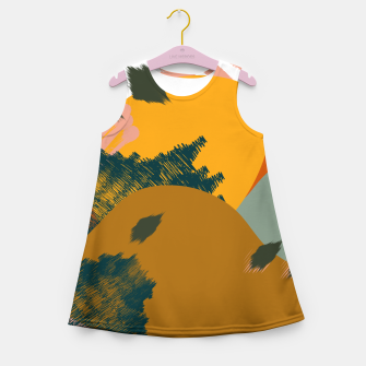 Miniaturka Earthy - Abstract Pattern Girl's summer dress, Live Heroes