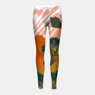 Miniaturka Earthy - Abstract Pattern Girl's leggings, Live Heroes