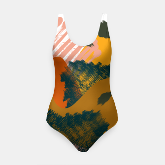 Miniaturka Earthy - Abstract Pattern Swimsuit, Live Heroes