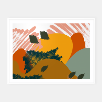 Miniaturka Earthy - Abstract Pattern Framed poster, Live Heroes
