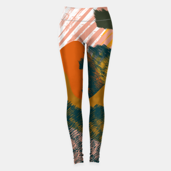 Miniaturka Earthy - Abstract Pattern Leggings, Live Heroes