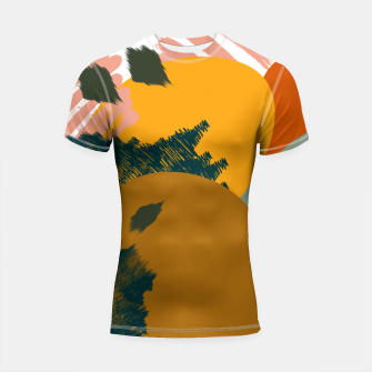 Miniaturka Earthy - Abstract Pattern Shortsleeve rashguard, Live Heroes