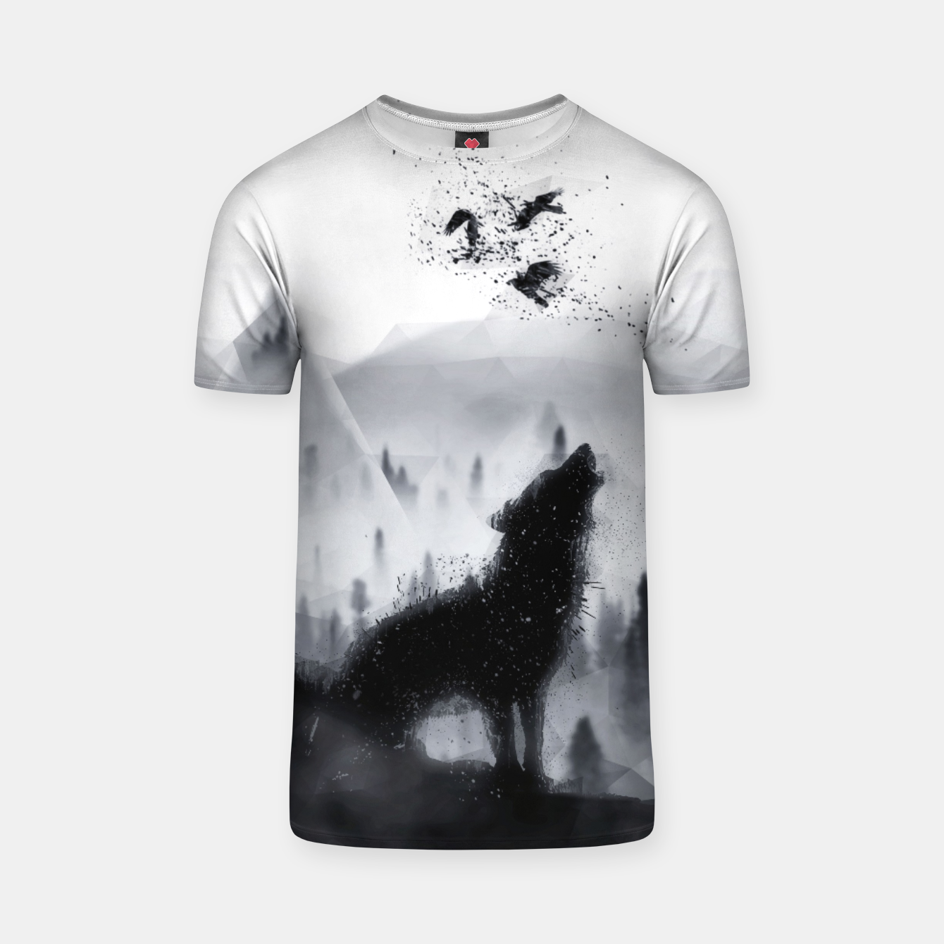 Image de The Lone Wolf - LowPoly Style T-Shirt - Live Heroes