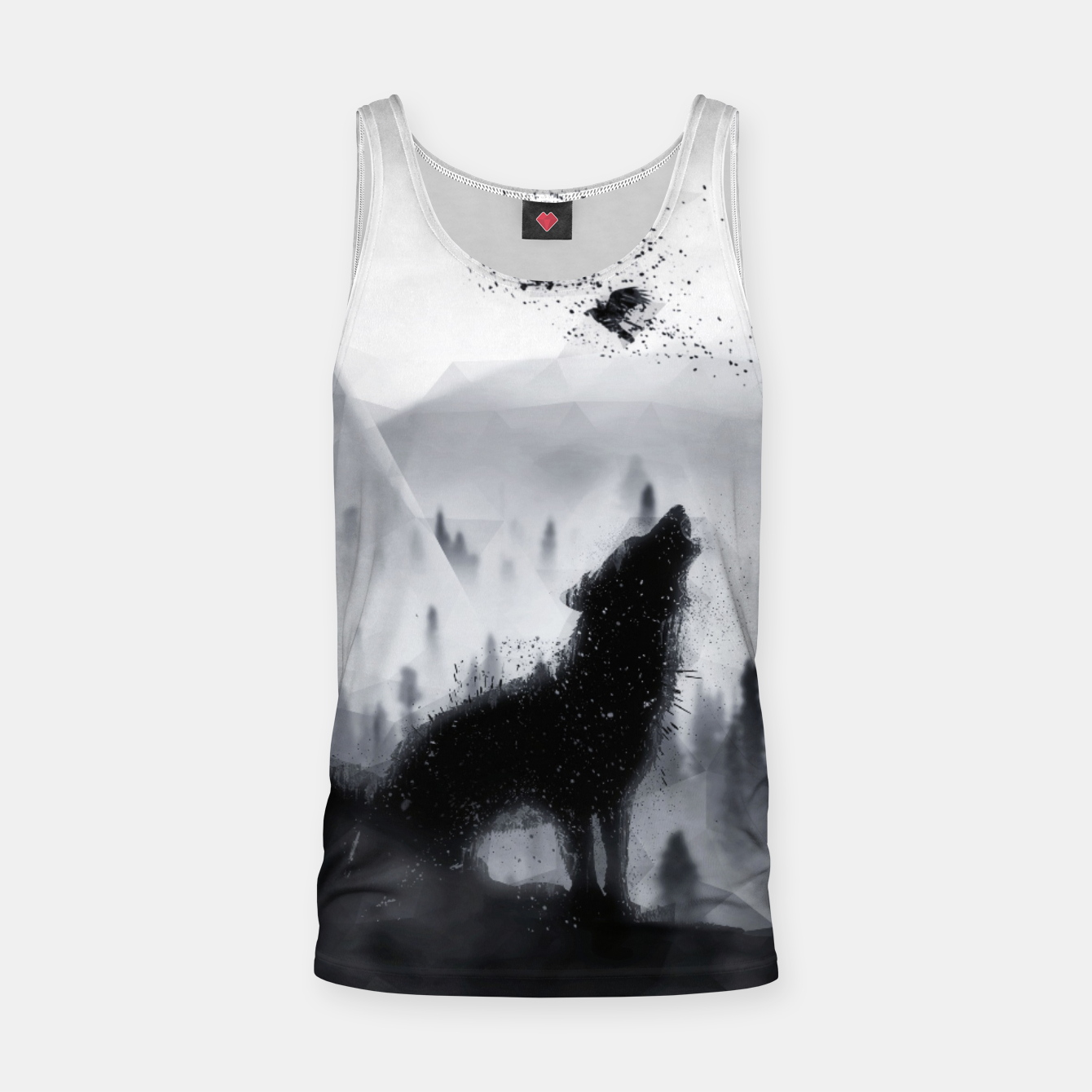 Image de The Lone Wolf - LowPoly Style Muskelshirt  - Live Heroes