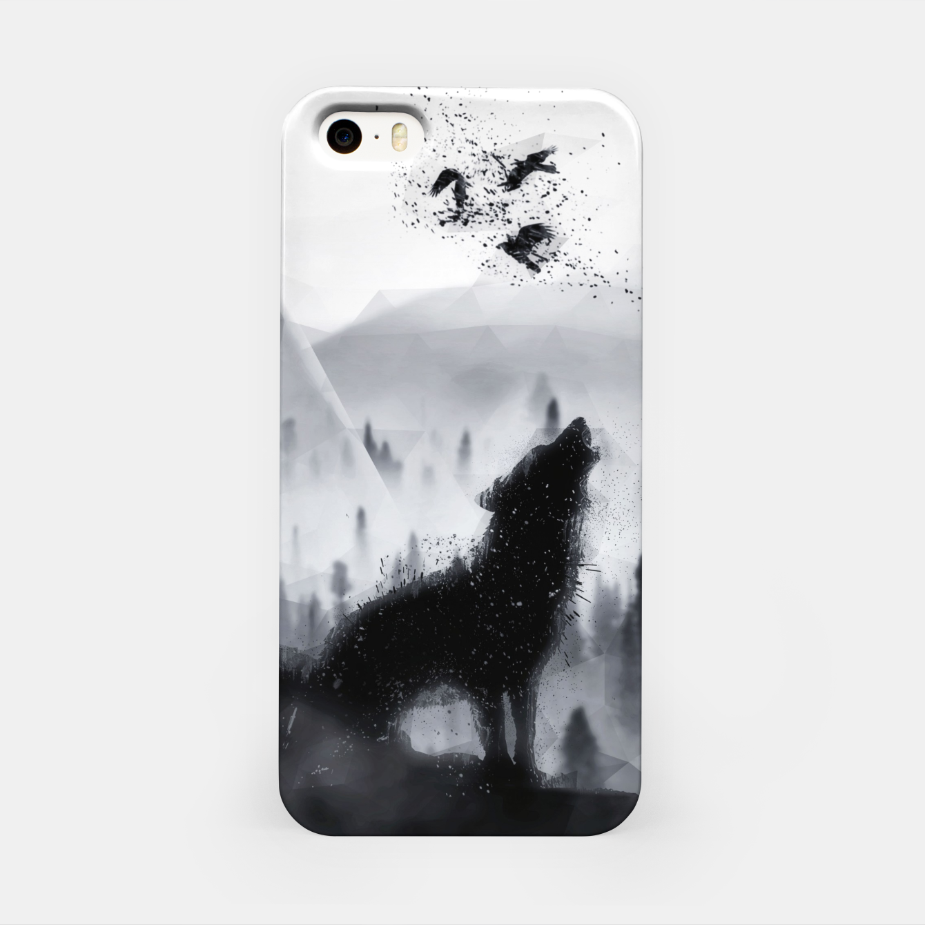 Image de The Lone Wolf - LowPoly Style iPhone-Hülle - Live Heroes