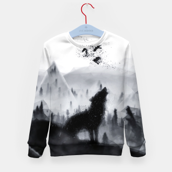 The Lone Wolf - LowPoly Style Kindersweatshirt thumbnail image