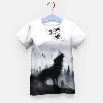 The Lone Wolf - LowPoly Style T-Shirt für kinder miniature