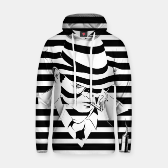 Thumbnail image of LOVE NOIR B&W Cotton hoodie, Live Heroes