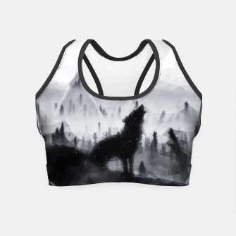 The Lone Wolf - LowPoly Style Crop Top obraz miniatury