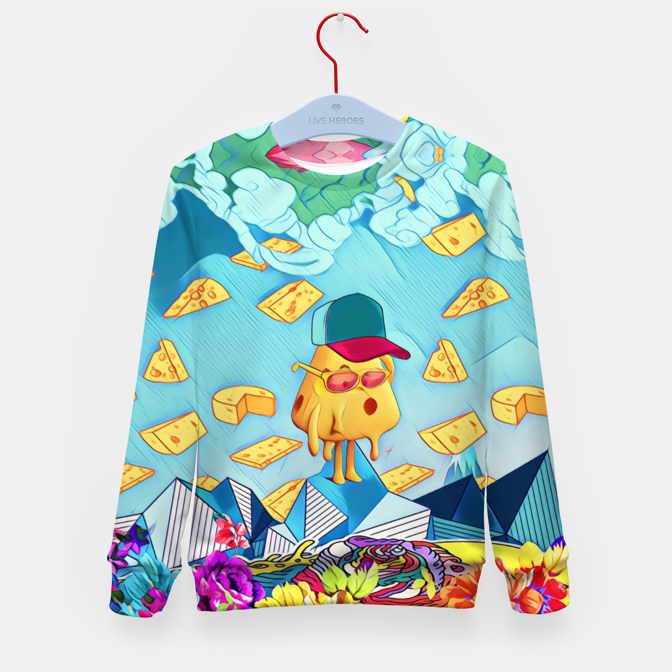 Image of Cheese Kid's sweater - Live Heroes