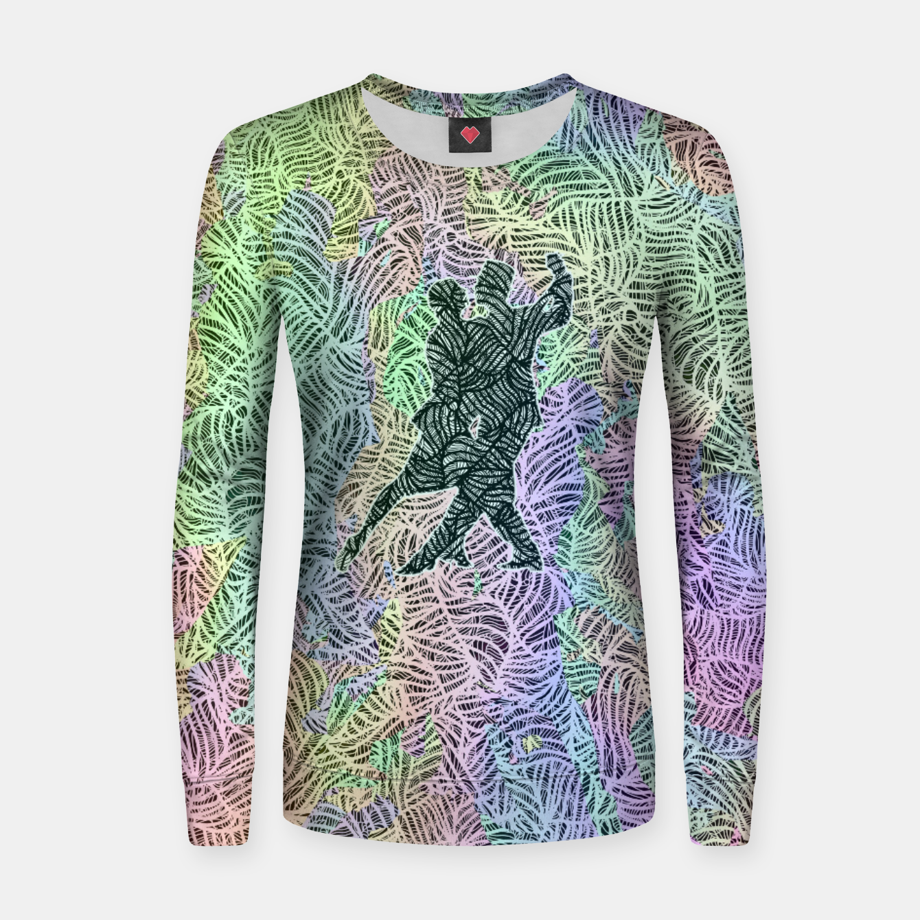 Image of Keep on dancing Woman cotton sweater - Live Heroes