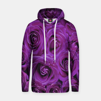 Thumbnail image of Purple Roses Cotton hoodie, Live Heroes
