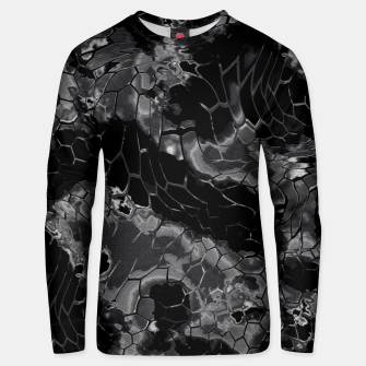 Miniature de image de animal print design - black dragon scales skin pattern Baumwoll sweatshirt, Live Heroes