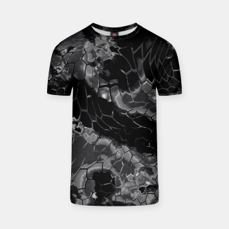 animal print design - black dragon scales skin pattern T-Shirt Bild der Miniatur
