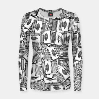 Thumbnail image of Tell Your Story Woman cotton sweater, Live Heroes