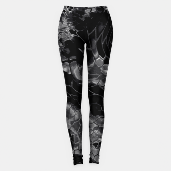 animal print design - black dragon scales skin pattern Leggings Bild der Miniatur