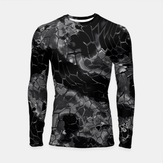 animal print design - black dragon scales skin pattern Longsleeve rashguard Bild der Miniatur