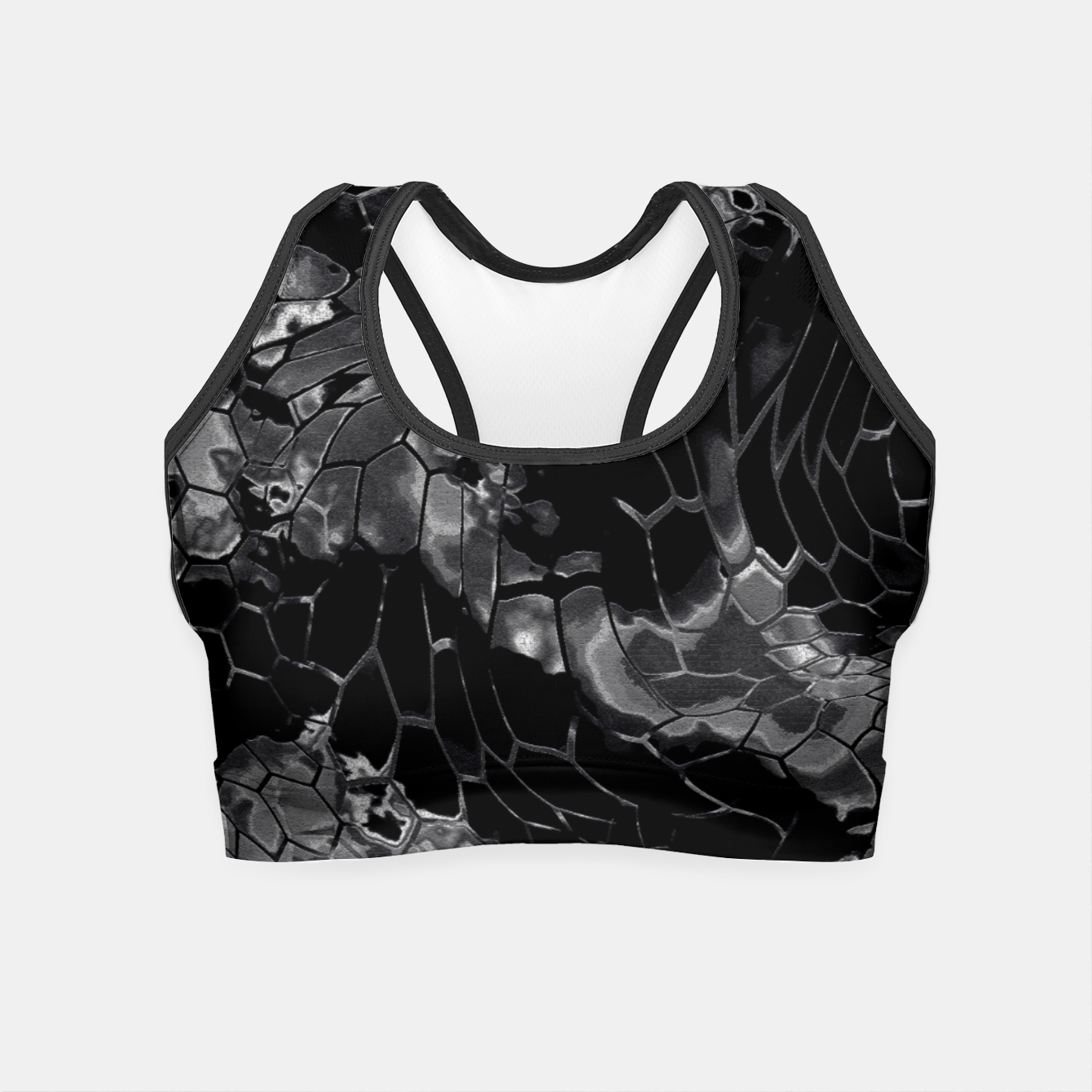 Foto animal print design - black dragon scales skin pattern Crop Top - Live Heroes