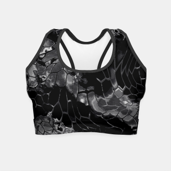 Miniature de image de animal print design - black dragon scales skin pattern Crop Top, Live Heroes