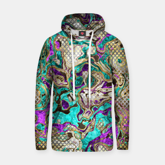 Thumbnail image of Pattern LXXIV Cotton hoodie, Live Heroes