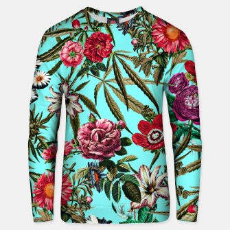 Miniature de image de Marijuana and Floral Pattern II Cotton sweater, Live Heroes