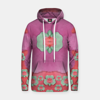 Thumbnail image of fantasy flowers in everything that is around us in a free environment  Cotton hoodie, Live Heroes